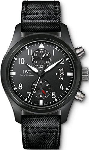 IWC - Reloj suizo automático para hombre, de acero inoxidable y estilo informal, color negro (modelo: IW388007)