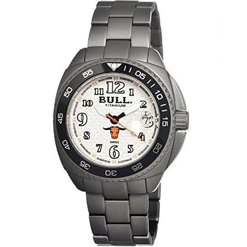 bull titanium BULMD001 - Reloj para Hombres, Correa de Titanio Color Gris