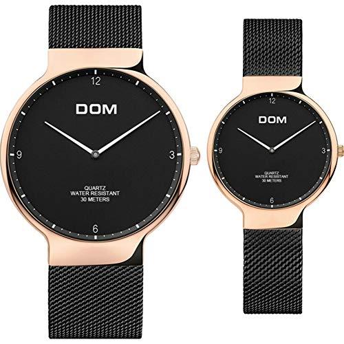 Reloj De Pareja Valentines Regalos Hombres Damas Reloj Diseño De Lujo Clásico Simple Con Correa De Plata Acero Inoxidable