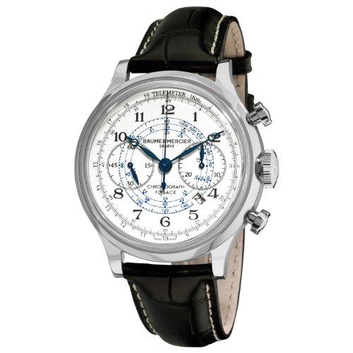 Baume & Mercier 10006 - Reloj de pulsera hombre, piel, color negro