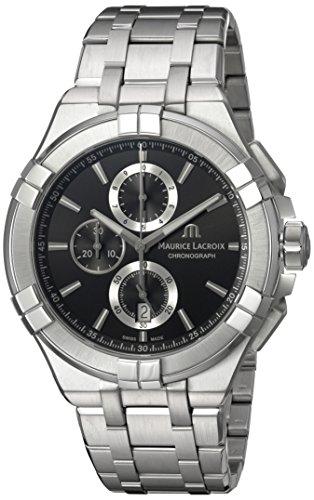 Maurice Lacroix Reloj analógico para Hombres de Cuarzo con Correa en Acero Inoxidable AI1018-SS002-330-1