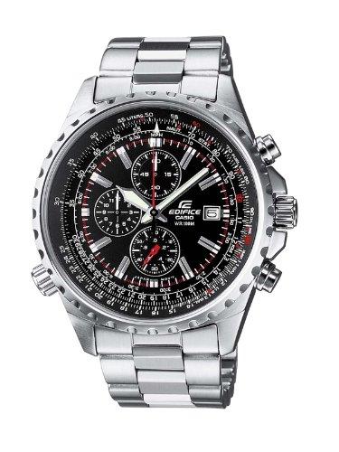 Casio EDIFICE Reloj en caja sólida, 10 BAR, Negro, para Hombre, con Correa de Acero inoxidable, EF-527D-1AVEF