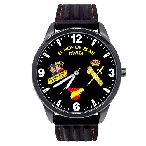 Reloj G&B Guardia Civil Esfera Negra Correa Caucho