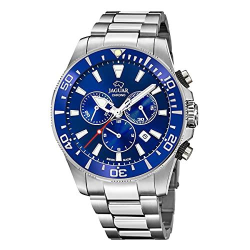 JAGUAR Reloj Modelo J872/1 de la colección Executive, Caja de 46,5 mm Azul con Correa de Acero para Caballero