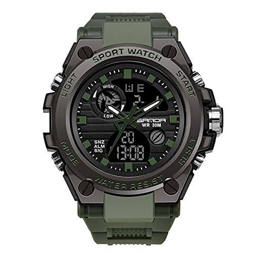 RORIOS Relojes Deportivos para Hombre Resistente al Agua Digital Militares Relojes Multifuncional Militar Reloj para Hombre