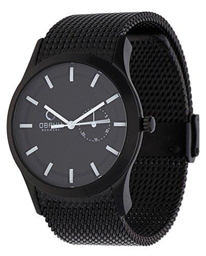 Obaku Harmony V124G BBMB - Reloj de Caballero de Cuarzo, Correa de Acero Inoxidable Color Plata