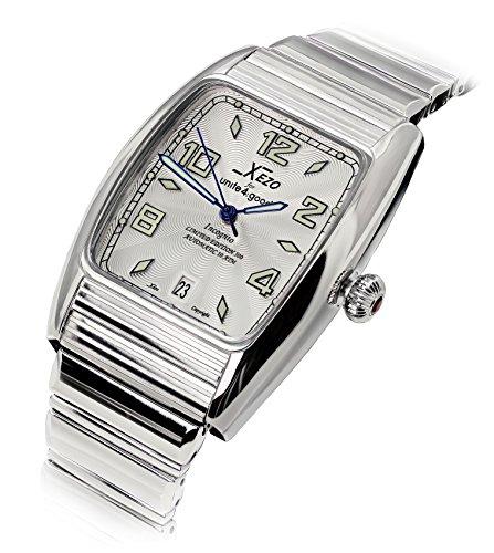 Xezo Incognito Reloj Tonneau para Hombre, Resistente al Agua, 10 ATM, Movimiento automático Miyota, Acabado Lujoso, Pulsera XL