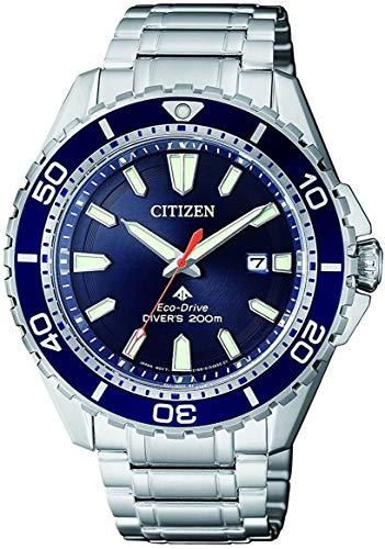 Citizen Reloj Analogico para Hombre de Energía Solar con Correa en Acero Inoxidable BN0191-80L