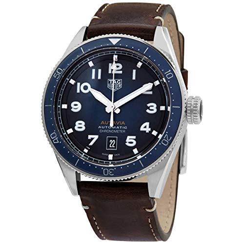 TAG Heuer orologio Autavia Calibre 5 COSC Uomo 42mm BLU automatico Acciaio WBE5116.FC8266