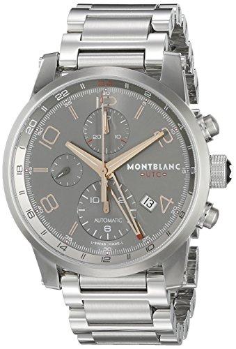 Montblanc Timewalker chronovoyager UTC Hombres del Acero Inoxidable Swiss Reloj automático 107303
