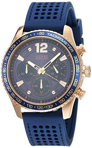 GUESS Reloj Analógico para Hombre de Cuarzo con Correa en Silicone W0971G3