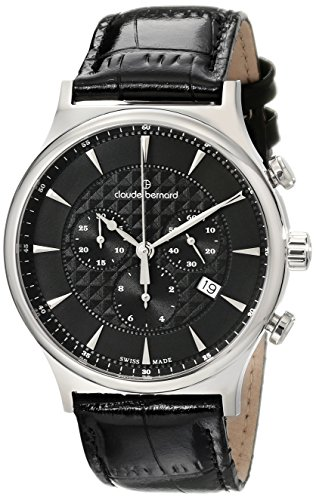 Claude Bernard 10217 3 NIN - Reloj de Pulsera Hombre, Color Negro