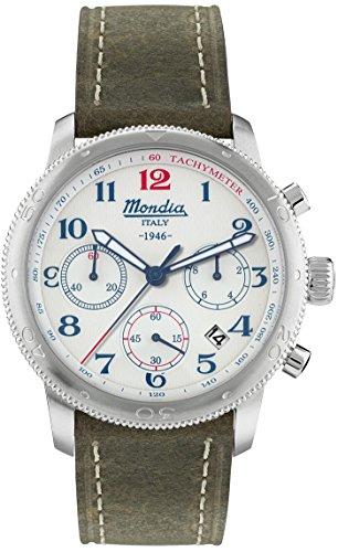 Mondia Italy 1946 crono Reloj para Hombre Analógico de Cuarzo japonés con Brazalete de Piel de Vaca MI753-1CP