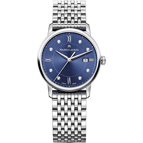 Reloj de Cuarzo Maurice Lacroix Eliros Date Ladies, Azul, Diamantes