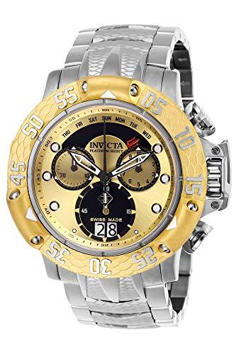 Invicta 26211 Subaqua Poseidon Reloj para Hombre acero inoxidable Cuarzo Esfera oro