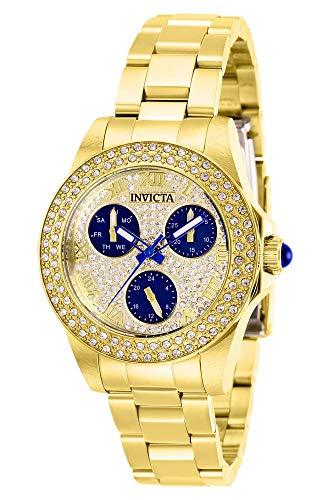 Invicta 28478 Angel Reloj para Mujer acero inoxidable Cuarzo Esfera oro