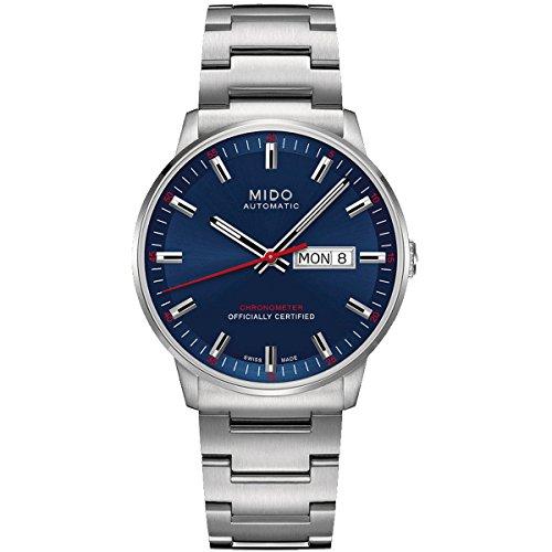 Mido Commander IIM0214311104100– Reloj de Pulsera analógico para Hombre, automático, con Correa de Acero Inoxidable