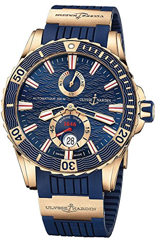 Ulysse Nardin Maxi Marine Diver - Reloj de pulsera para hombre, 44 mm, oro rosa sólido de 18 quilates