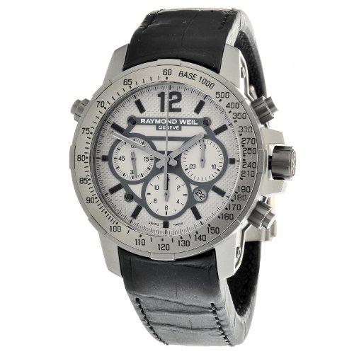 Raymond Weil Gents Titanium Nabucco Watch with Black Leather Strap