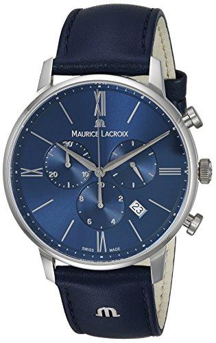 Maurice Lacroix Reloj Cronógrafo para Hombre de Cuarzo con Correa en Cuero EL1098-SS001-410-1
