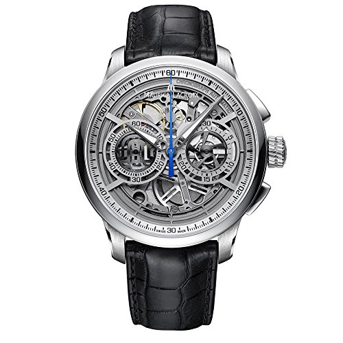 Reloj Automático Maurice Lacroix Masterpiece Skeleton, Chronograph, ML206, Plata