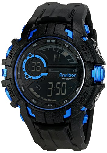 Armitron Sport 40/8335BLU - Reloj de Pulsera Hombre, Resina, Color Negro