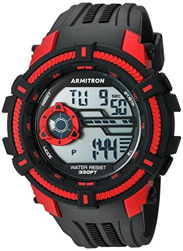 Armitron Sport Reloj Digital para Hombre de Cuarzo con Correa en Resina 40/8384RED