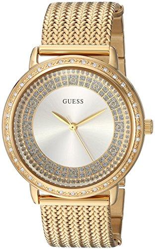 Guess Mujer Vestido de Acero Inoxidable de Cuarzo Reloj de Pulsera, Color: Gold-Toned (Modelo: u0836l3)