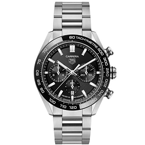 Tag Heuer orologio Carrera cronografo 44mm Calibre Heuer 02 Ceramica nera automatico Acciaio CBN2A1B.BA0643