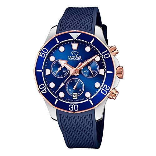 JAGUAR Reloj Modelo J890/4 de la colección Woman, Caja de 38,50/38,50 mm Correa de Caucho Azul Oscuro para señora