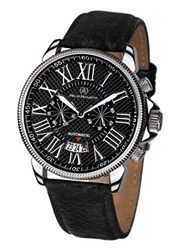 Mathis Montabon 100013-U - Reloj para Hombres, Correa de Cuero Color Negro