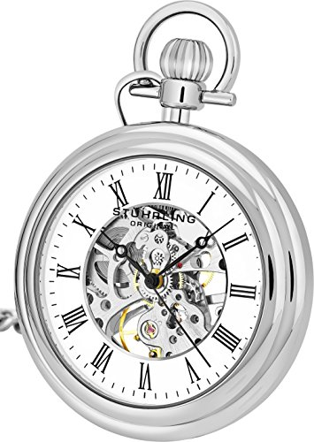 Stührling Original 6053.33113 - Reloj analógico para Unisex Acero Inoxidable, Color Plateado