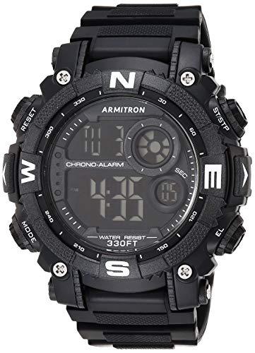 Armitron Sport Reloj Digital para Hombres de Cuarzo con Correa en Resina 40/8284BLK