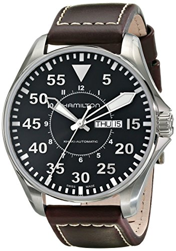 Hamilton Khaki Aviation Pilot Auto - Reloj (Reloj de Pulsera, Masculino, Acero Inoxidable, Acero Inoxidable, Marrón, Zafiro)