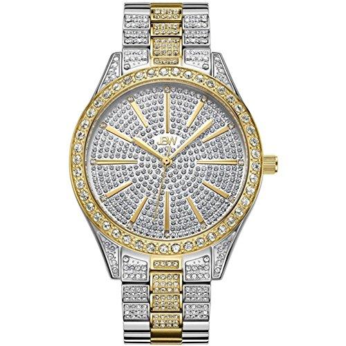 JBW Cristal Reloj DE Mujer Diamante Cuarzo Suizo 39MM DIAL Plata J6346D