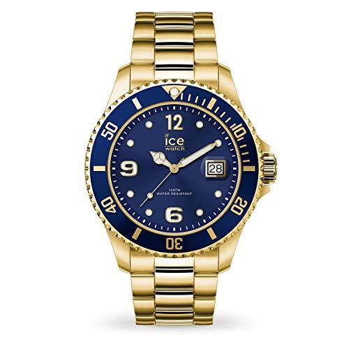 ICE-WATCH Ice Steel Gold Blue - Reloj Dorado para Hombre con Correa de Metal, 016761 (Medium)