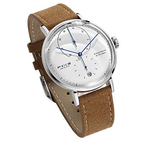 FEICE Reloj Automático para Hombre Reloj Bauhaus Reloj Mecánico Acero Inoxidable Espejo Arqueado Reloj Analógico de Moda Unisex -FM202 Ø42mm