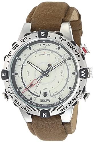 Timex Men's Intelligent Quartz Compass Chronograph Offwhite Dial Watch