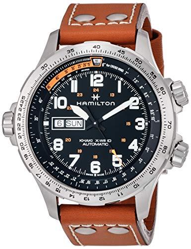 Hamilton H77755533 - Reloj (Reloj de pulsera, Masculino, Acero inoxidable, Negro, Acero inoxidable, Marrón, Zafiro)