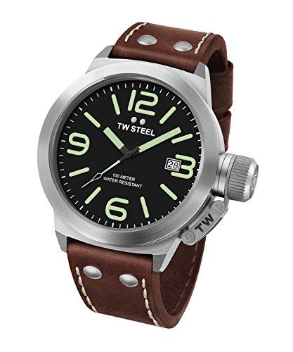 TW Steel Reloj Analógico para Unisex de Cuarzo con Correa en Cuero CS21