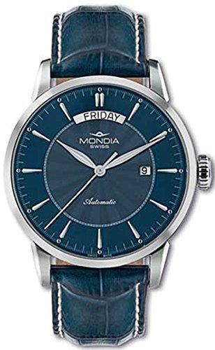 Mondia swiss Classic Reloj para Hombre Analógico de Automático Suizo con Brazalete de Piel de Vaca MS 656-2BL-CP