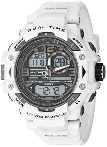 Armitron 20/5062del Deporte Hombres Digital Reloj cronógrafo Correa de Resina Reloj