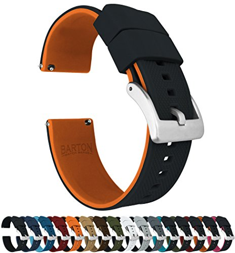 Barton Elite - Correas de reloj de silicona - Enganche rápido - Color a elegir - 18 mm, 19 mm, 20 mm, 21 mm, 22 mm, 23 mm y 24 mm