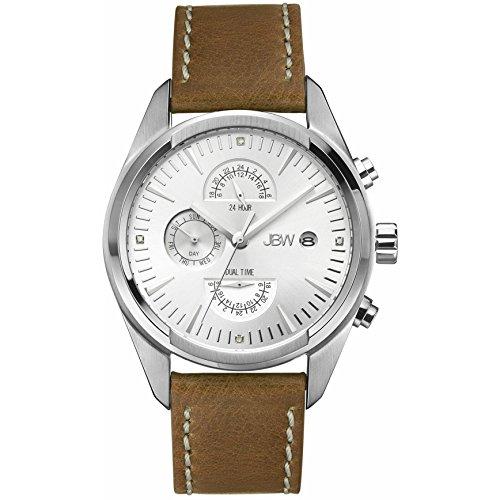 JBW WOODALL Reloj DE Hombre Diamante Cuarzo 44MM Correa DE Cuero J6300B