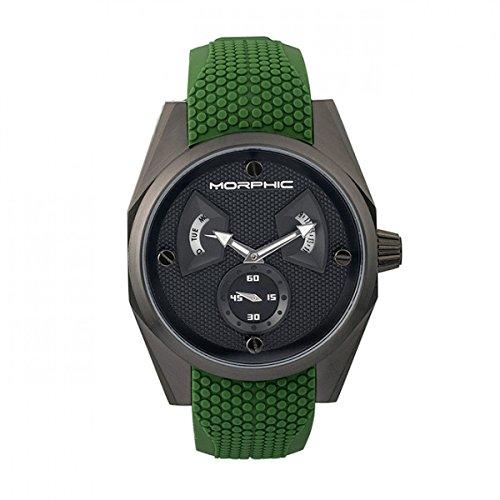 Morphic M34 Series Reloj w/Day/Date - Hombre, Negro/Verde, Talla única, MPH3408