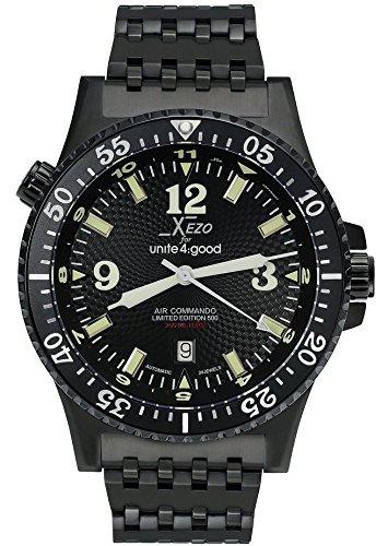 Xezo Air Commando de la Hombres Pila de Buceo Reloj d45-bl