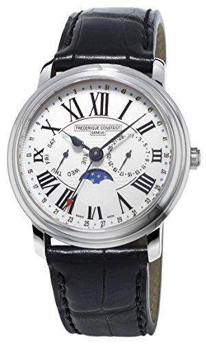 Frederique Constant Reloj de Pulsera XL Classics FC-270M4P6 para Hombre, analógico, de Cuarzo, de Piel