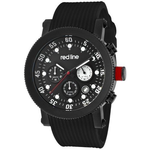 Red Line RL18101VD01BB - Reloj de Caballero Movimiento de Cuarzo con Correa de Caucho Negro