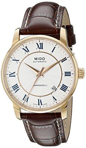 Mido Baroncelli M86002218 - Reloj para Hombres, Correa de Cuero Color marrón