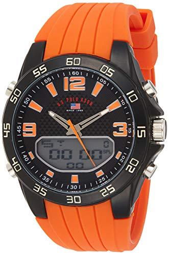 U.S. Polo Assn. Reloj para Hombres de Cuarzo con Correa en Silicona US9604